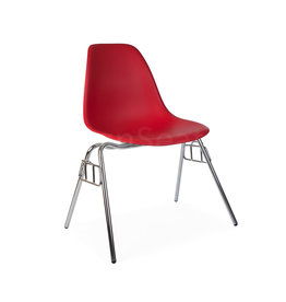 DSS Eames Design Stacking chair Tomato red