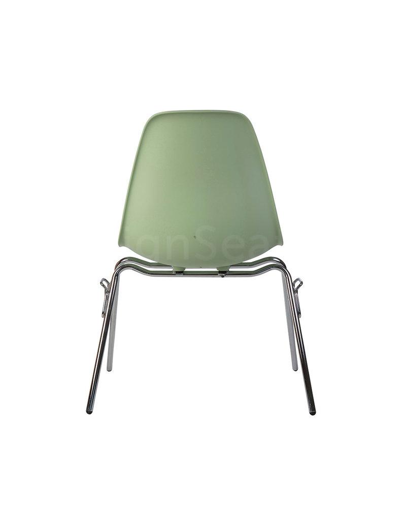 DSS Eames Design Stapelstoel Pastelgroen