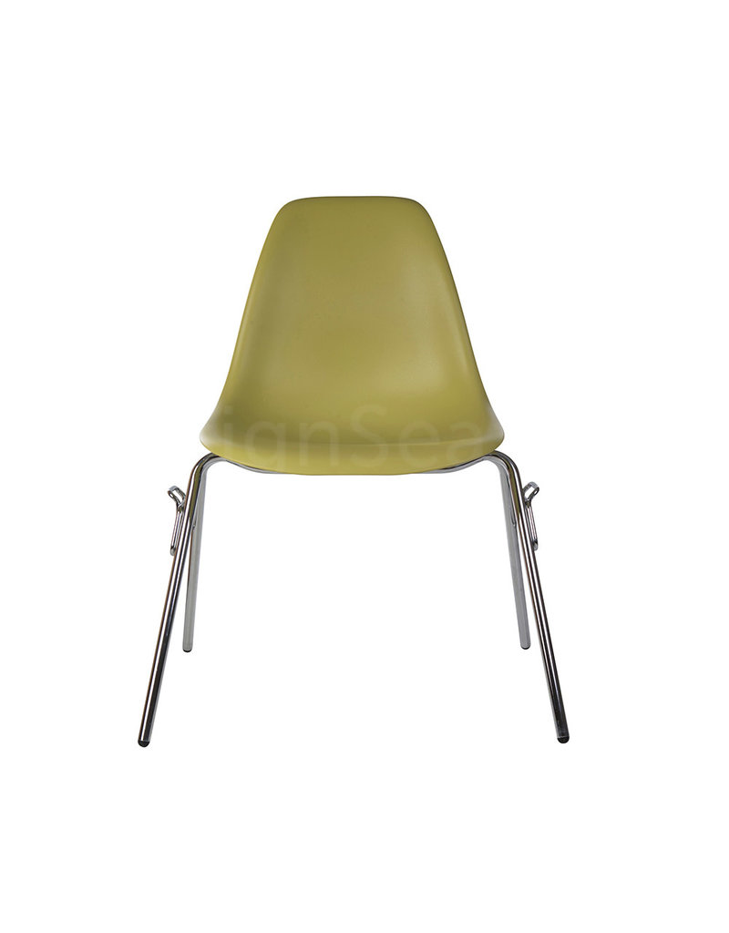 DSS Eames Design Stacking chair Olive green