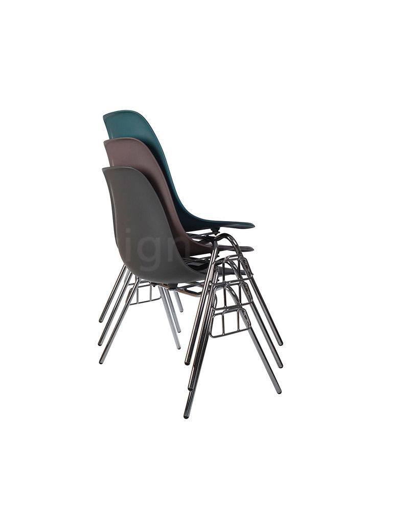DSS Eames Design Stapelstoel Donkergrijs