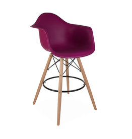 DAW BAR Eames Bar stool Cherry pink