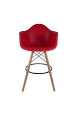 DAW BAR Eames Bar stool Tomato Red