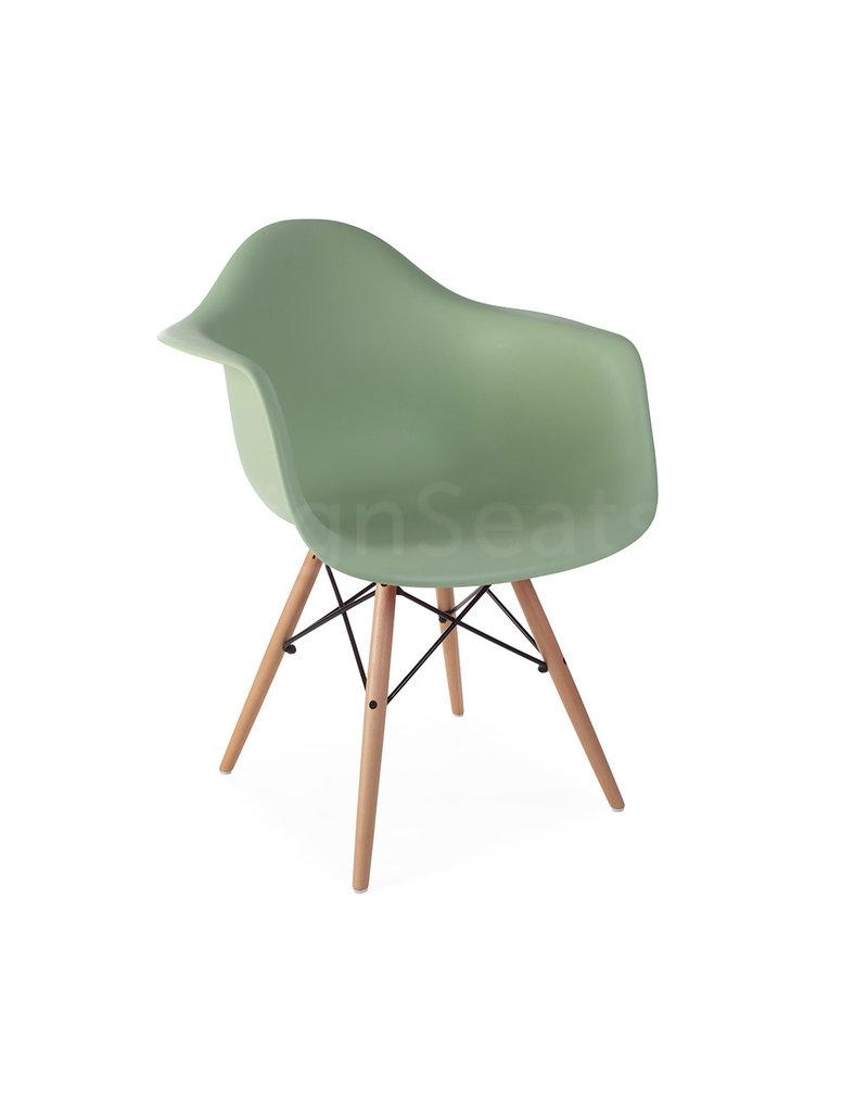 DAW Eames Design Stoel Pastelgroen
