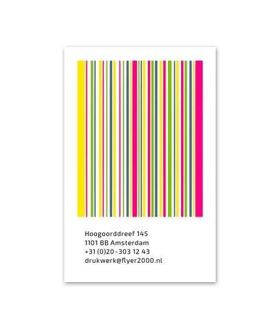 Visitekaartje 4/4 - 340 gr natuurkarton