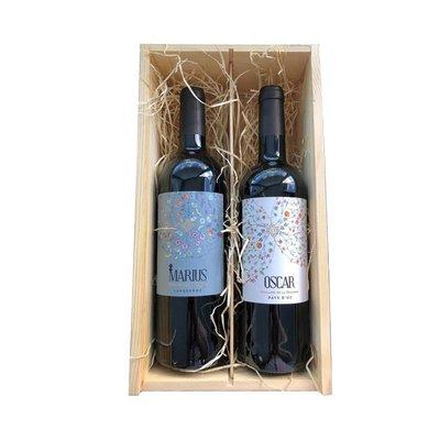 Oscar & Marius wijngift