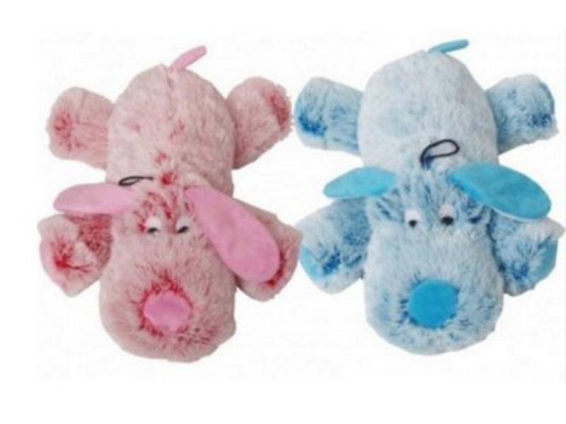 Pluche Hond Roze/Blauw