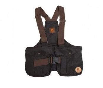 Waxed Cotton Dummy Vest Bruin