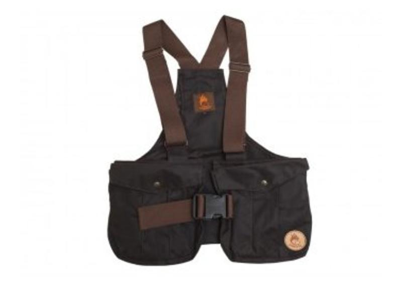 Firedog Waxed Cotton Dummy Vest Bruin