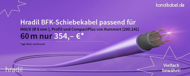 Hradil BFK-Schiebekabel passend für Haspel H-60/8 von Kummert