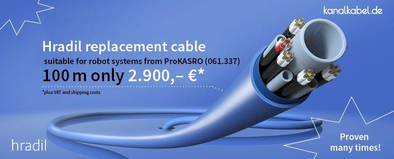Hradil replacement cable suitable for robot systems from ProKASRO