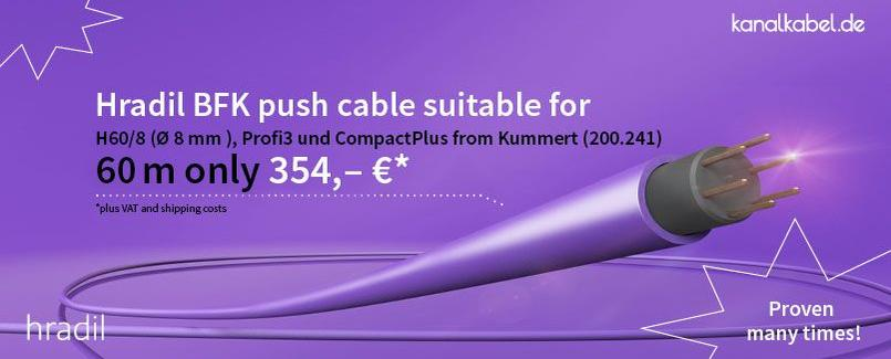 Hradil BFK push cable suitable for reel H-60/8 from Kummert