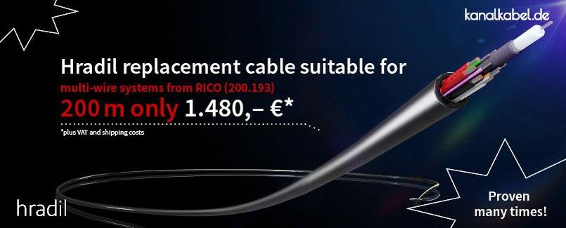 Hradil replacement cable suitable for multi-wire systems from RICO