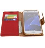 Mercury Goospery Canvas Diary Booktype voor Samsung Galaxy S7 - Rood