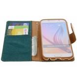 Mercury Goospery Canvas Diary Booktype voor Samsung Galaxy S6 - Groen