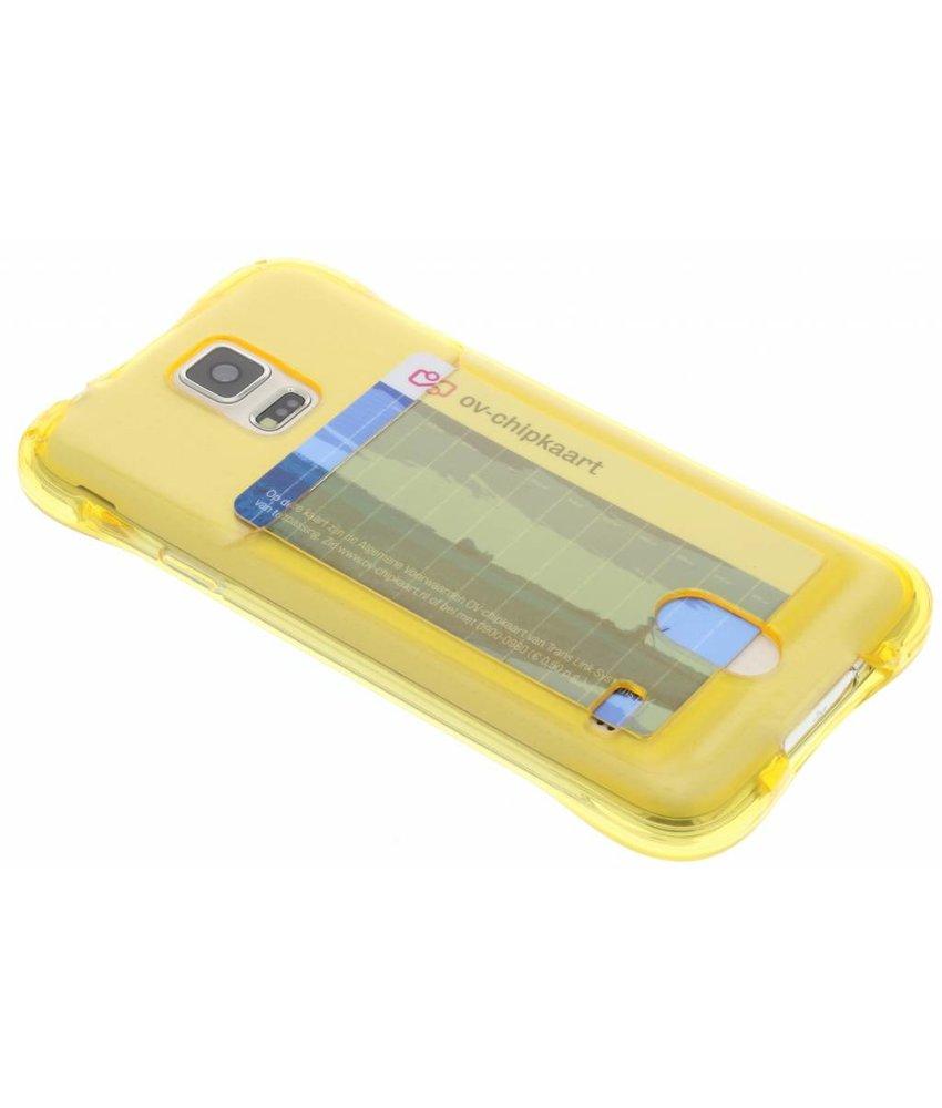 Geel TPU hoesje met vakje Galaxy S5 (Plus) / Neo