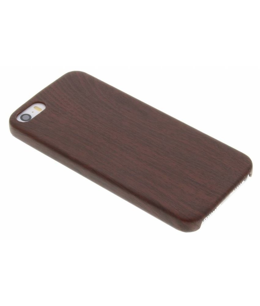 Houten Softcase Backcover iPhone SE / 5 / 5s