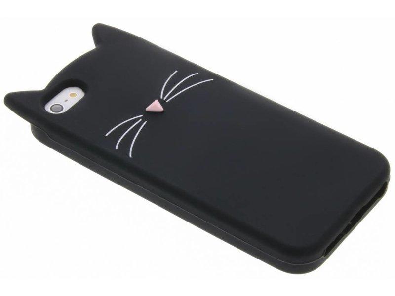 Kat Backcover voor iPhone SE / 5 / 5s - Zwart