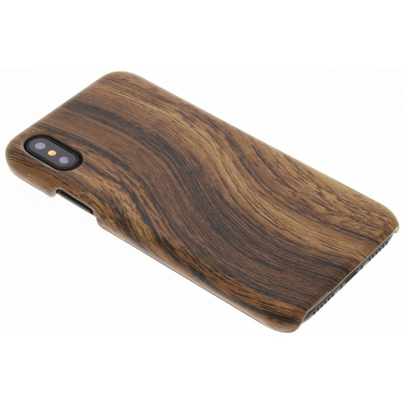 Hout Design Backcover iPhone X / Xs