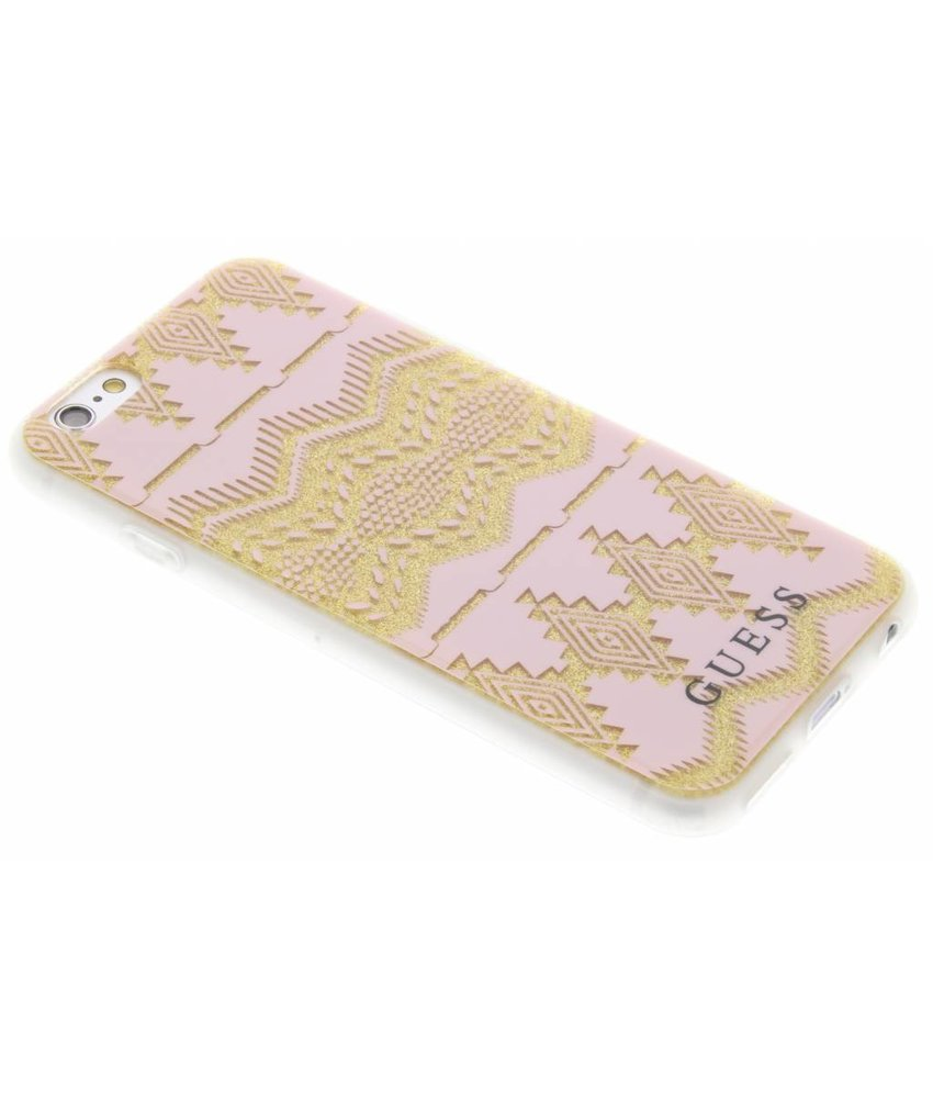 Guess Tribal Gel Case iPhone 6 / 6s - Roze
