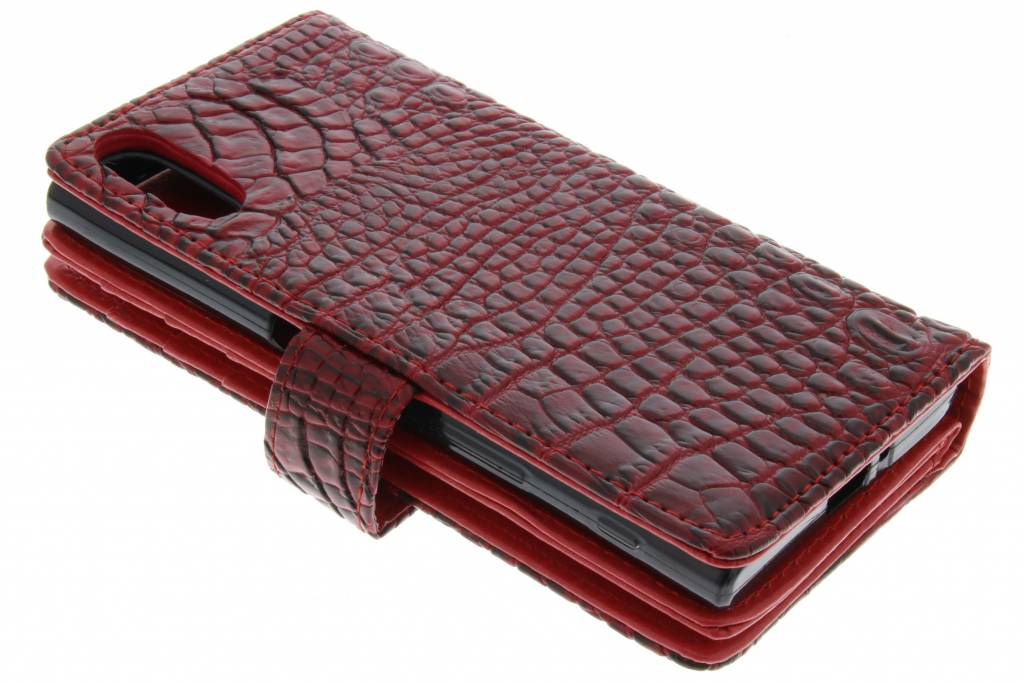 6920ba72238 ... Krokodil Booktype voor Sony Xperia XZ - Rood ...