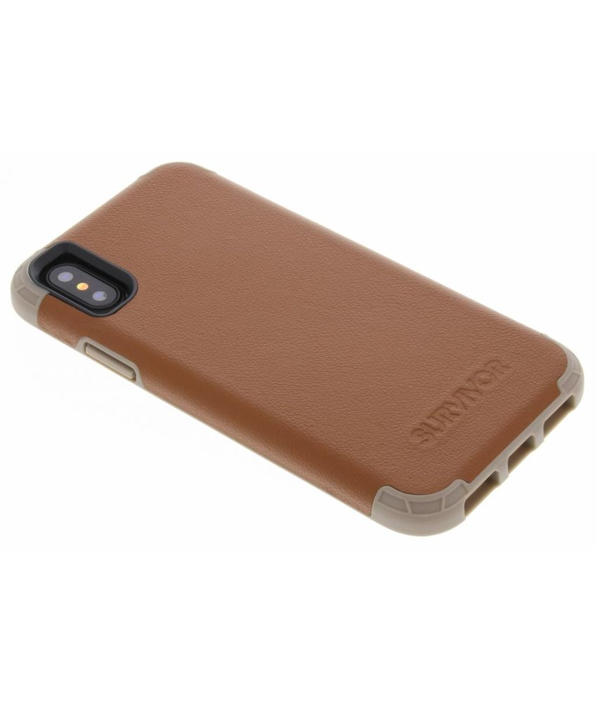 Griffin Survivor Prime Leather Backcover iPhone X / Xs