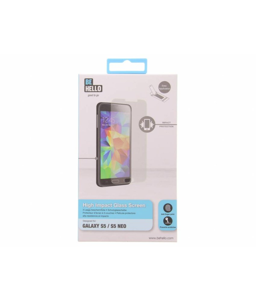 Be Hello High Impact Glass Screenprotector Samsung Galaxy S5 (Plus)