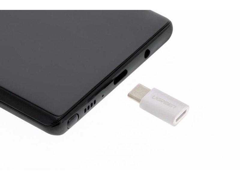 Ugreen USB Type-C naar Micro-USB Adapter - Wit