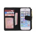 Luxe Portemonnee voor iPhone SE / 5 / 5s - Zwart