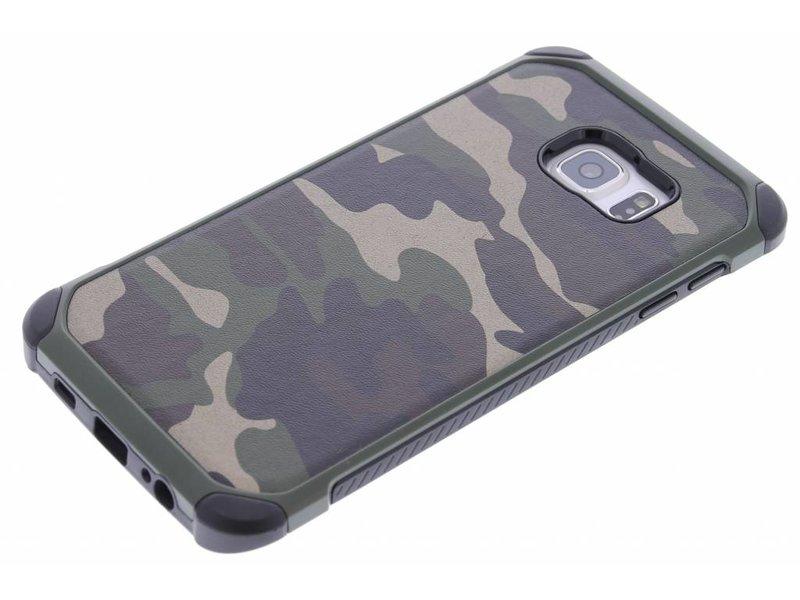 Samsung Galaxy S6 Edge Plus hoesje - Army Defender Backcover voor