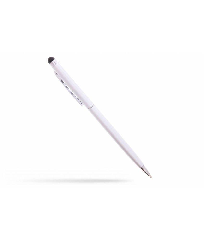 Zilver balpen met stylus