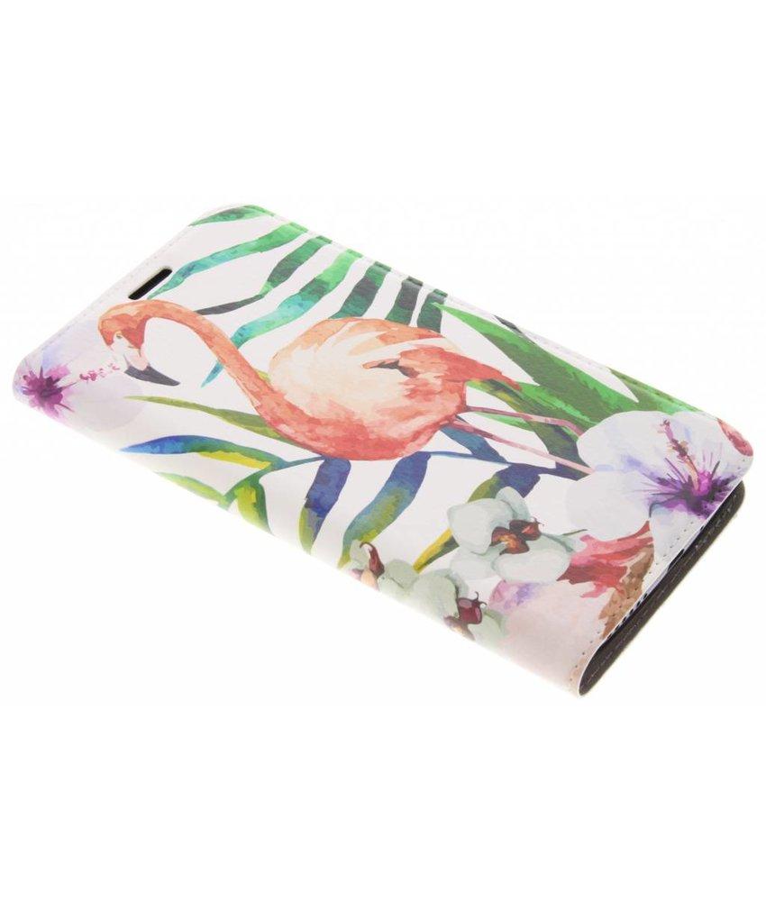 Flamingo Design Booklet Motorola Moto E4 Plus