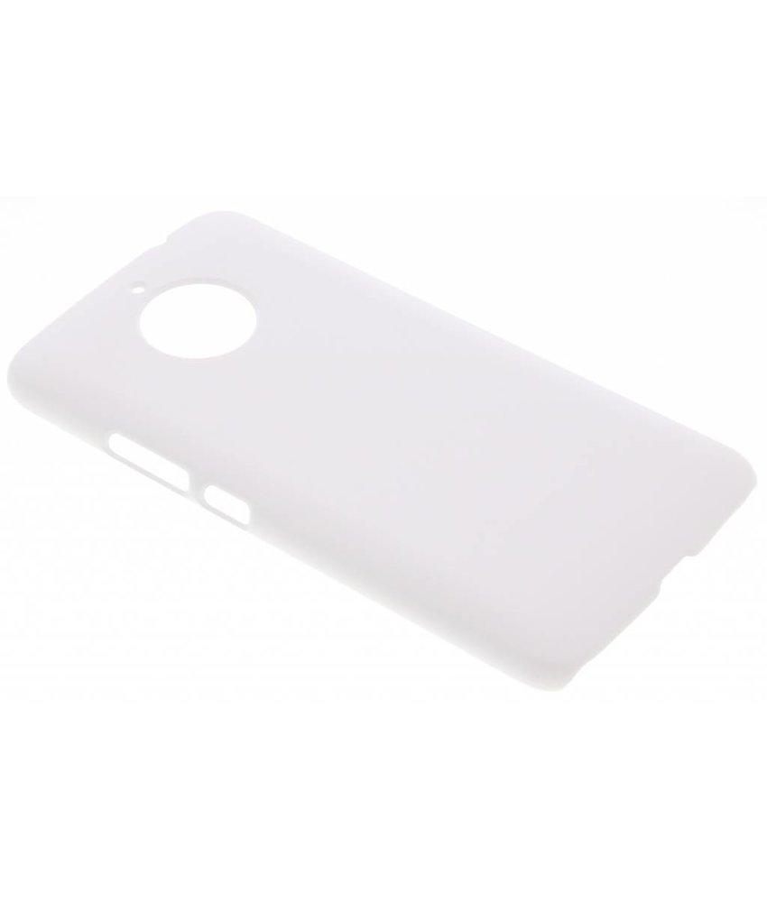 Wit effen hardcase hoesje Motorola Moto E4 Plus