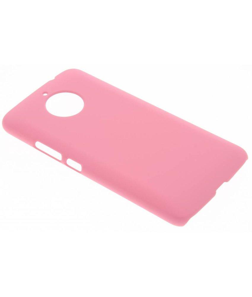 Roze effen hardcase hoesje Motorola Moto E4 Plus