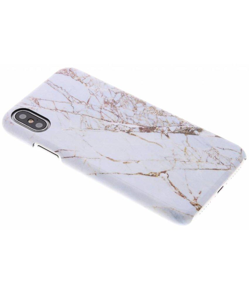 Selencia White Marble Passion Hard Case iPhone Xs / X