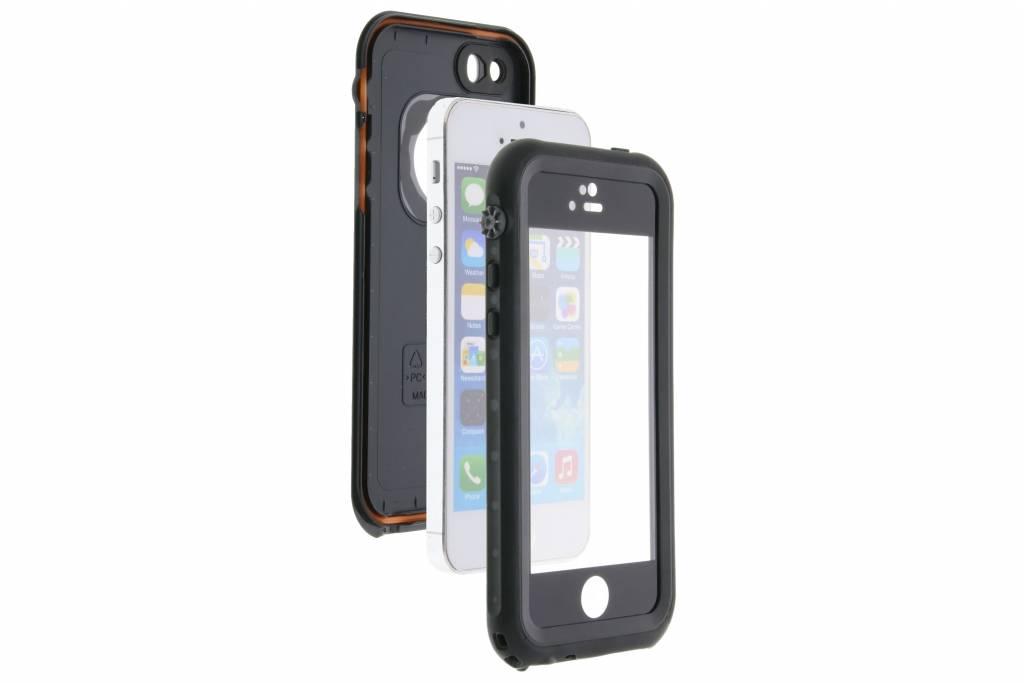 new product 95117 b0639 Redpepper Dot Plus Waterproof Backcover voor iPhone SE / 5 / 5s - Zwart