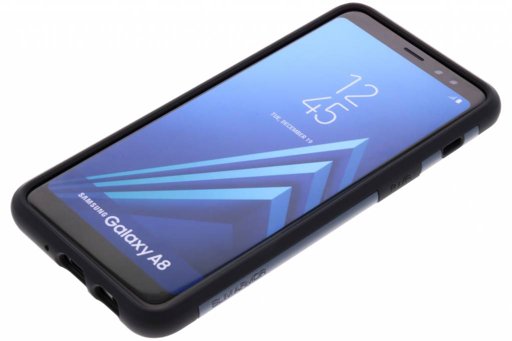 new arrival ef88d 0e0f3 Spigen Slim Armor Backcover voor Samsung Galaxy A8 (2018) - Blauw