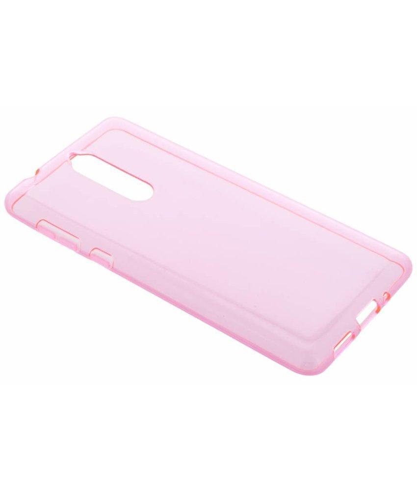 Roze transparant gel case Nokia 8
