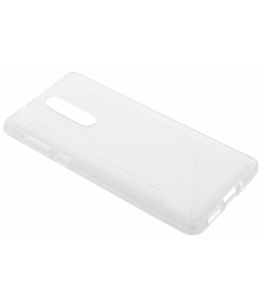 Transparant S-line TPU hoesje Nokia 8