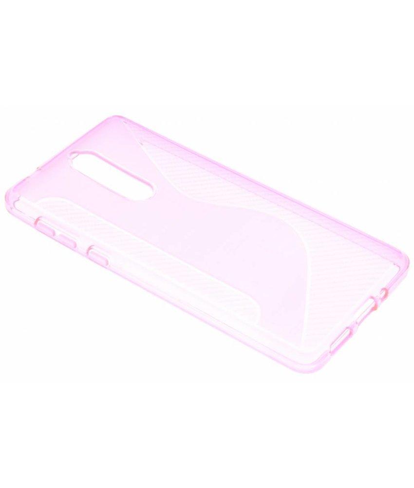 Roze S-line TPU hoesje Nokia 8