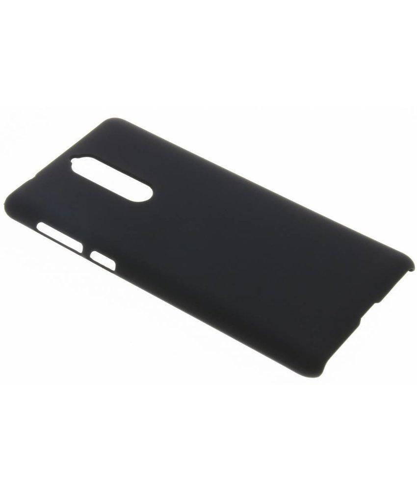 Zwart effen hardcase hoesje Nokia 8