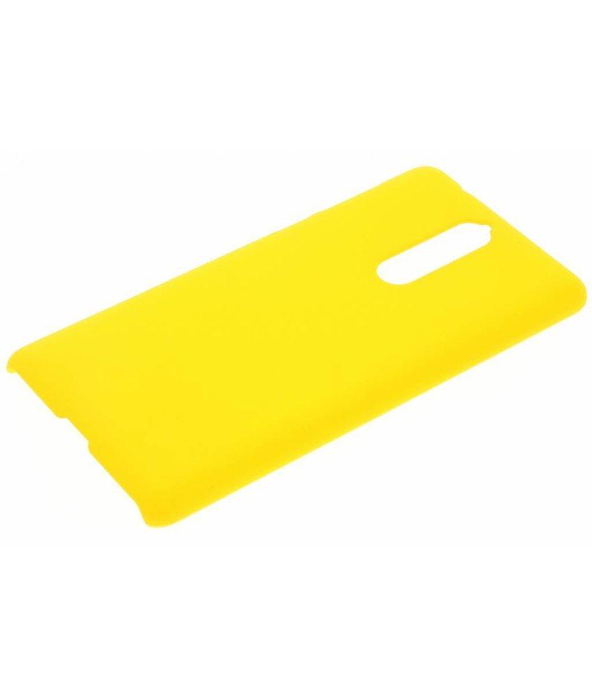 Geel effen hardcase hoesje Nokia 8