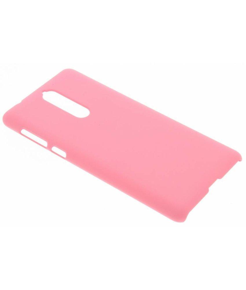 Roze effen hardcase hoesje Nokia 8