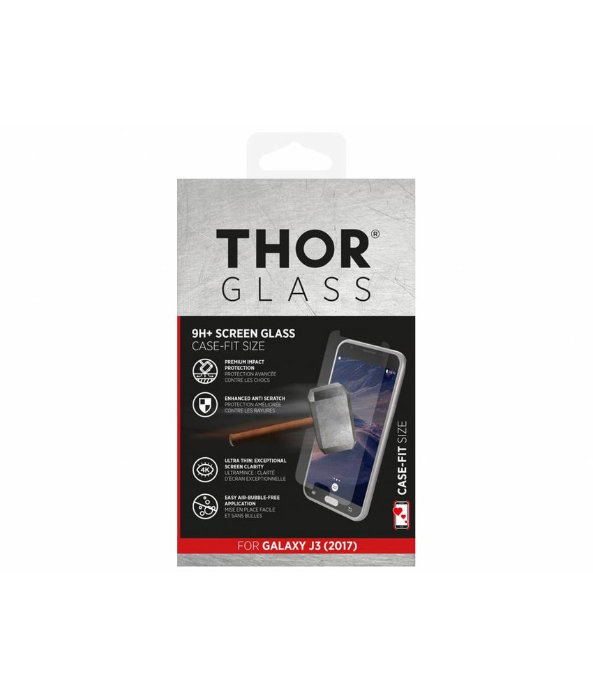 THOR 9H+ Case-Fit Glass Screen Protector Samsung Galaxy J3 (2017)