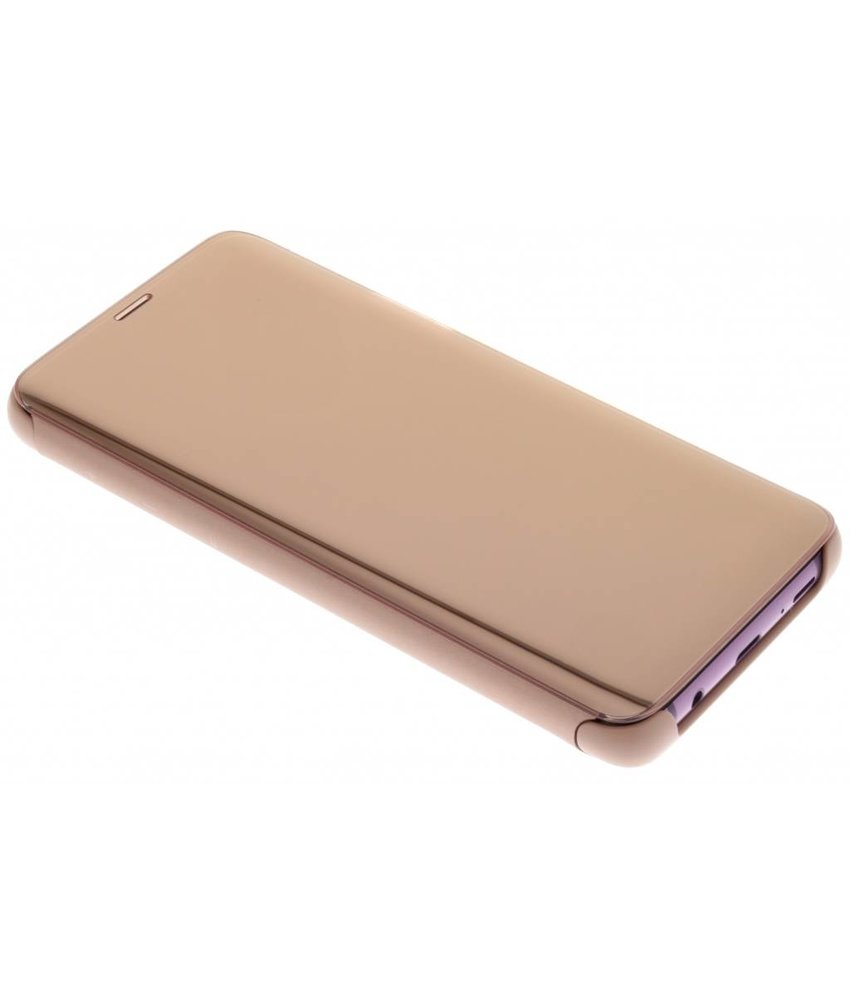 Samsung Goud Clear View Standing Cover Galaxy S9 Plus