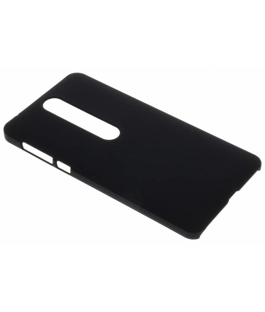 Zwart effen hardcase hoesje Nokia 6.1