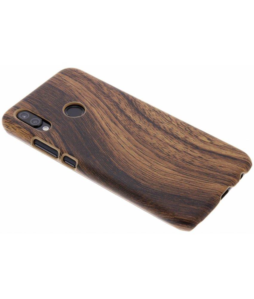 Donkerbruin Hout design hardcase hoesje Huawei P20 Lite