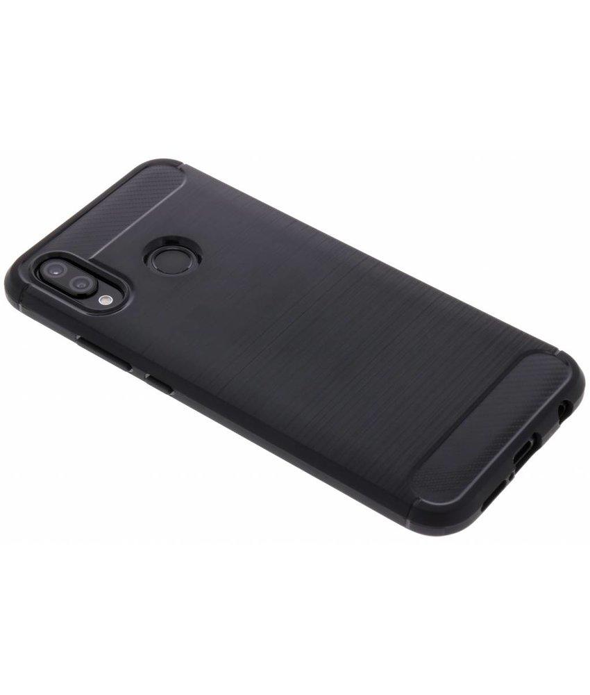 Zwart Brushed TPU case Huawei P20 Lite