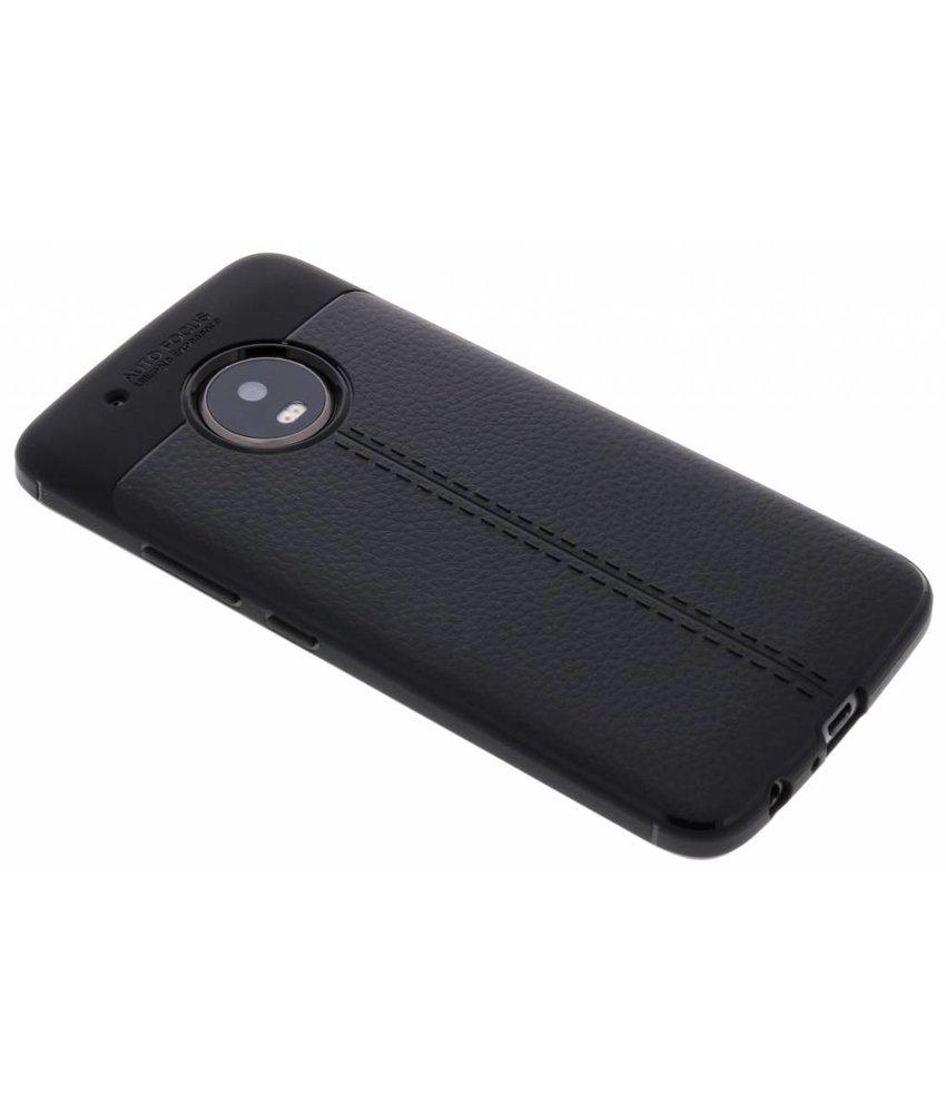 Lederen Backcover met stiksel Motorola Moto G5 Plus