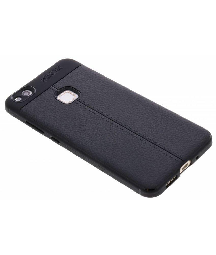 Lederen Backcover met stiksel Huawei P10 Lite