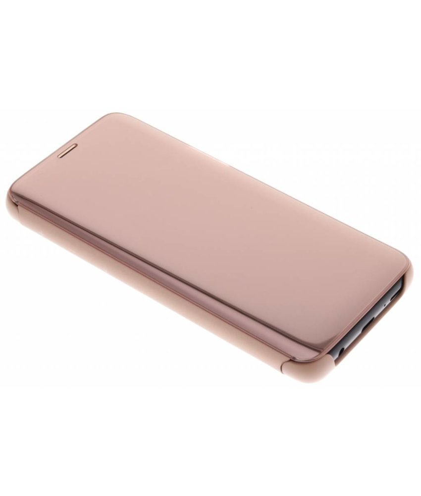 Samsung Rosé Goud Clear View Standing Cover Galaxy S9